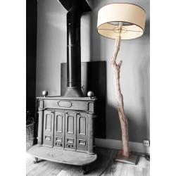Grand lampadaire en bois flotté